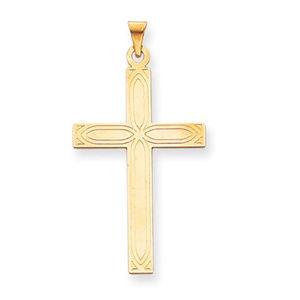 14k Solid Cross Pendant